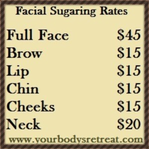 Facial Sugaring Rates