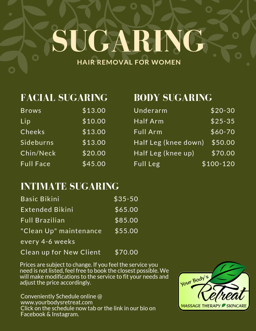How Much Does Sugaring Cost? - Your Bodys Retreat